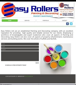 Frontlineweb  website builders/designers Easy Rollers Painters and Decorators Suffolk